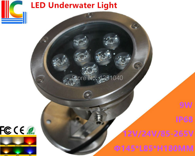 Led Lamps 9w Led Underwater Light 12v 110v 220v Rotary Underwater Floodlight Ip68 Waterproof Outdoor Spotlight Pond Lamp 2pcs/lot Good Companions For Children As Well As Adults