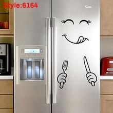 Милый стикер для холодильника Happy Delicious Face кухонные наклейки на холодильник арт XOA88
