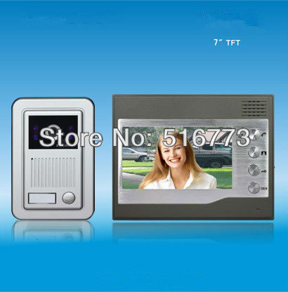 High quality 7 TFT color screen  video door phone  7 inch door bell
