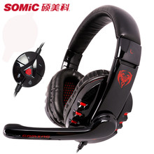 SOMiC G927 Original Virtual 7.1 Surround Sound Gaming Headset Strong Bass with Microphone Over-ear Headband Earphone Big Earbuds(China)
