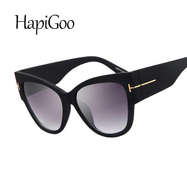 4676799a968cd5 HapiGOO Fashion Vintage Oversize Cat Eye Gradient Sunglasses Women Brand  Designer Big Frame Sun Glasses For Female Lady Eyewear