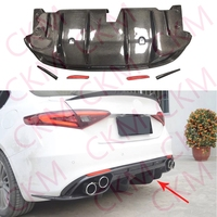 Rear Bumper Diffuser Lip Spoiler Carbon Fiber for Alfa Romeo Giulia standard Car Body Kit 2017UP