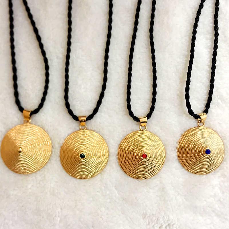 Ethlyn תכשיטי זהב צבע האתיופית Habesha נשים תכשיטי שרשראות תליונים