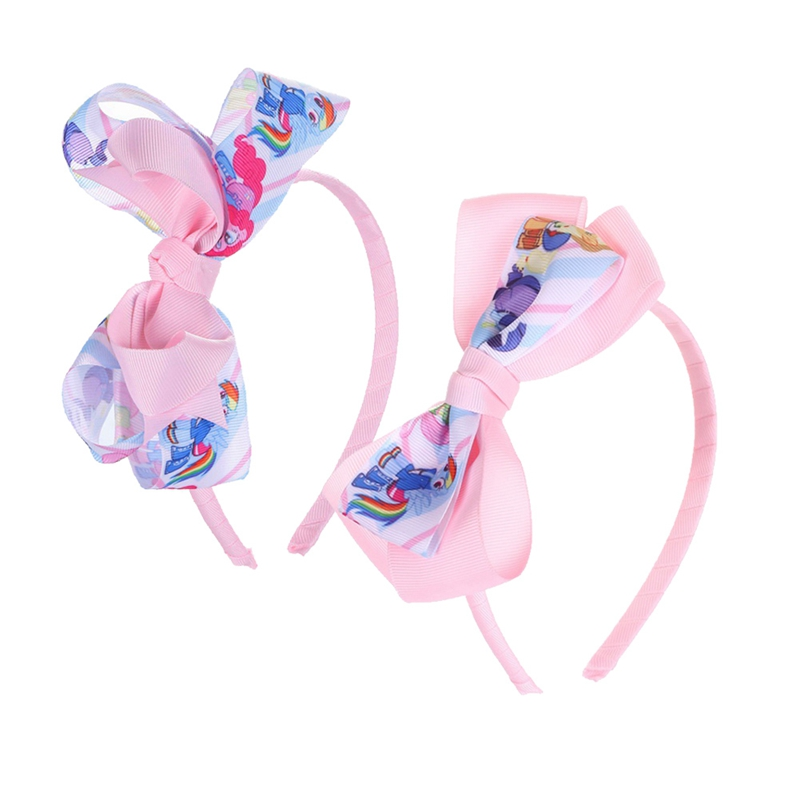 Faithful Fashion 2018 Girl Unicorn Hair Bow Headband Boutique Rainbow Printed Handmade Ribbon Hairbands Children Hair Accessories