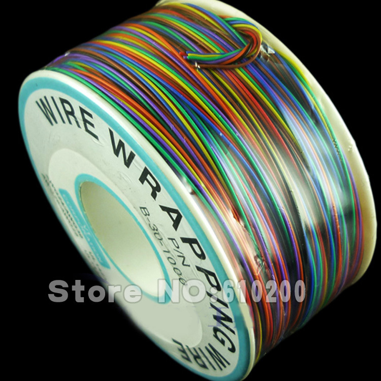 цена на Free Shipping High quality PCB line Single core tin plated copper wire, eight color wholesale