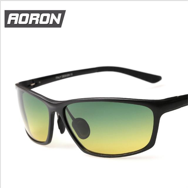 Aluminio y magnesio polarizadas de conducción UV400 día de visión nocturna gafas hombres de gafas de sol del conductor deportes para hombre sun glasses
