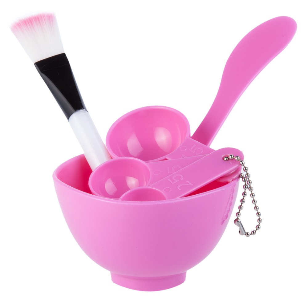 Lady Plastic Mixing Stick Brush Spoon Bowl Kit Cosmetic Tool Mask Set Pink Kiehls - Clearly Corrective White Deep Moisture Clarifying Cream - 50ml/1.7oz