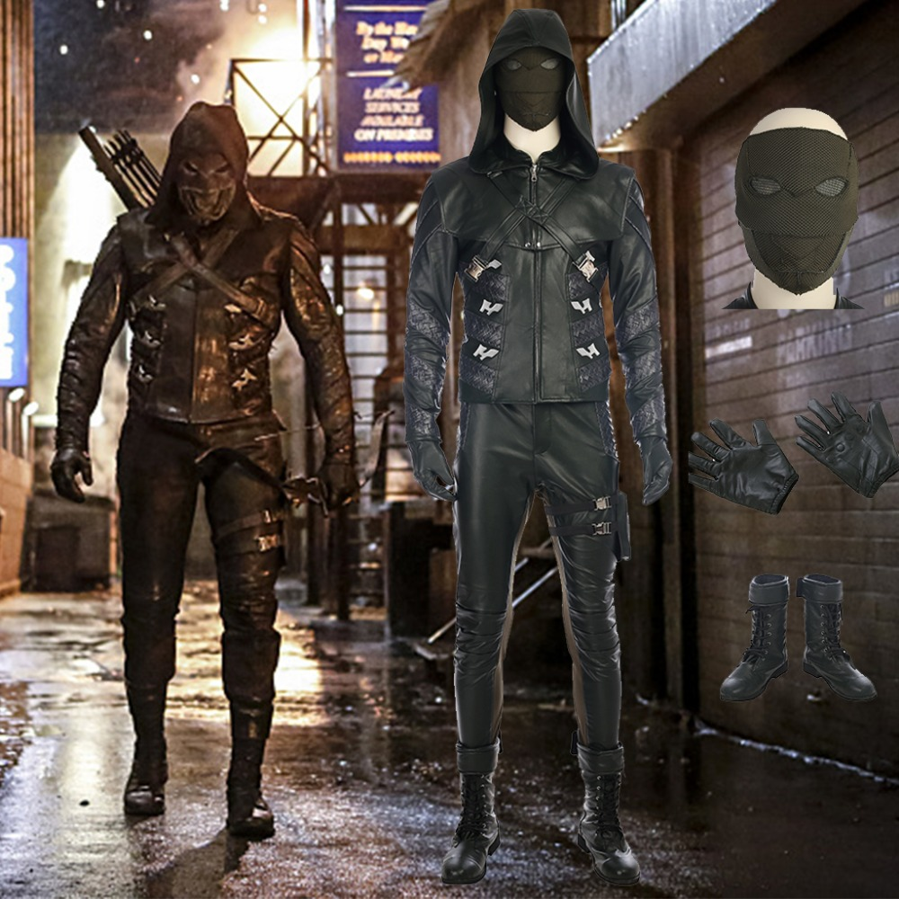 Flèche verte saison 5 Costume prométhée cosplay tenue Halloween costumes pour hommes Adrian Chase prométhée flèche costume
