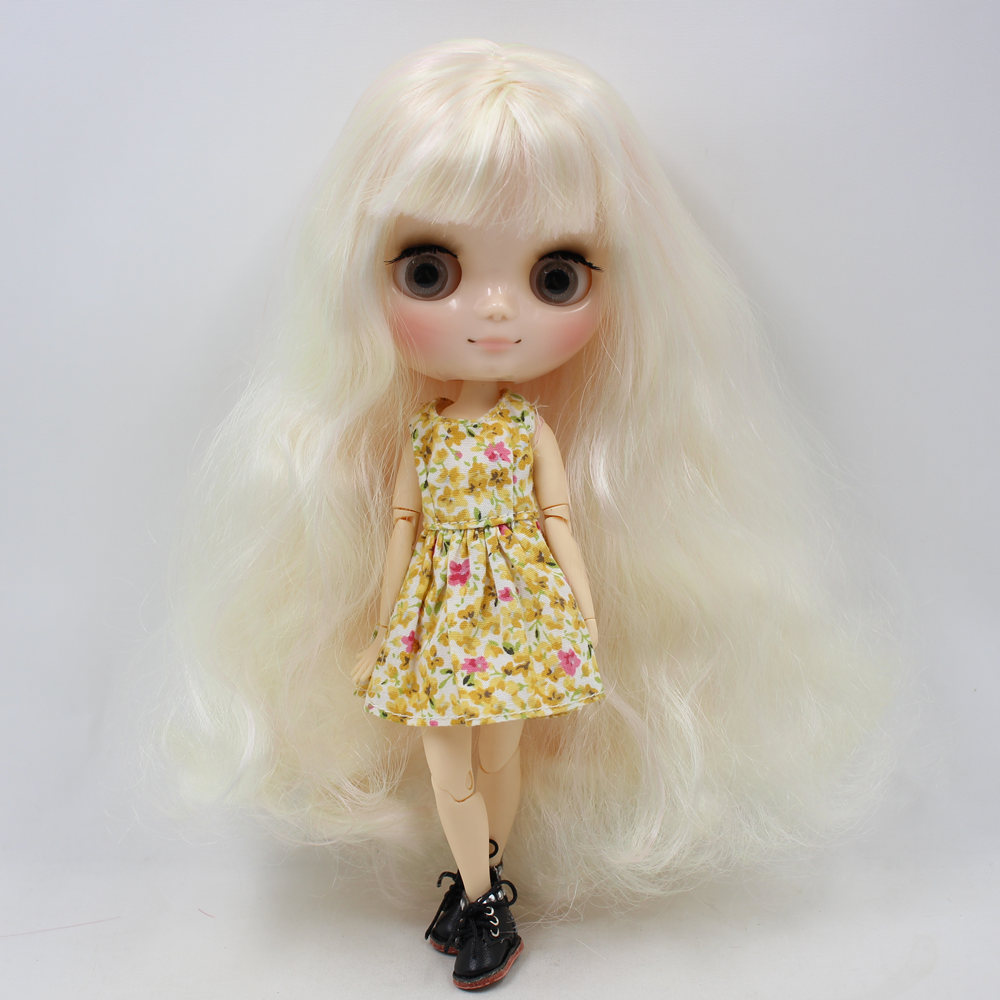 Nude Factory Middie Blyth doll Series No.BL6025/1017 Golden mix Pink hair with bangs Transparent face Neo-in Dolls from Toys & Hobbies    2
