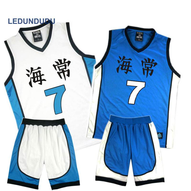 Anime Kuroko No Basuke Basket Cosplay Kaijo School Uniforms Kise Ryota Men Jersey Sportswear T-shirt Shorts Set No. 4 5 7 8