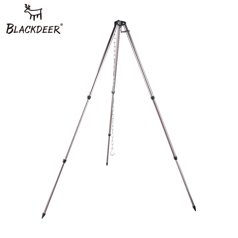 BLACKDEER Cooking Tripod For Camping Equipment Picnic With Storage Bag Cooking Rack For Hiking Picnic Cook