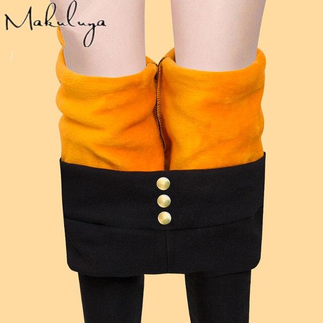 Makuluya 2016 super quality WARM legging LOCK your warm than 100USD women leggings  winter plus velvet thickening lady legging