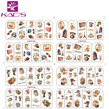 HOT BOP160-163 Europe Women Nail Design Nails Decoration Nail Art Stickers Decal Manicure Tools for Water Transfer Nail Sticker