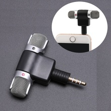 Mini 3.5mm Jack Microphone Stereo Mic For Recording Mobile Phone Studio Interview Microphone For Smartphone