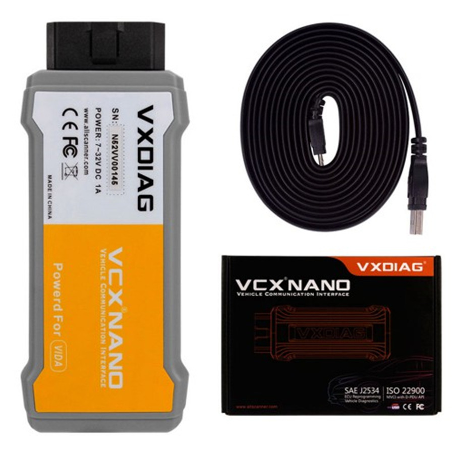 Original VXDIAG VCX NANO For Volvo Car Diagnostic Tool V2014D function better Than for Volvo Dice Scanner free shipping 2017 vxdiag vcx nano for land rover jaguar 2 in 1 software v145 for land rover diagnostic tool dhl free shipping