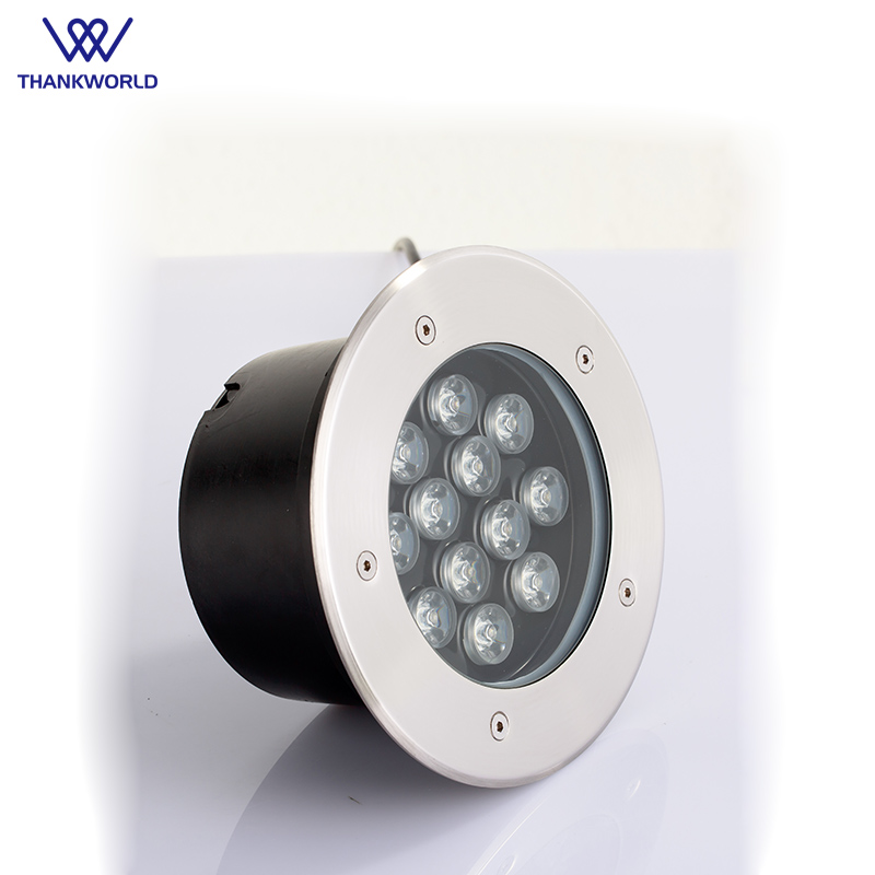 LED Utomhus Ground Lights 12w Garden Road Golvlampa AC85-265V - Utomhusbelysning