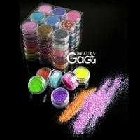 BNG 45 colors/lot 3D Nail Art Belle 0.01mm Gloss Polvere di Scintillio di Design FAI DA TE Unghie in Gel Design Polacco decorazioni Tool Kit