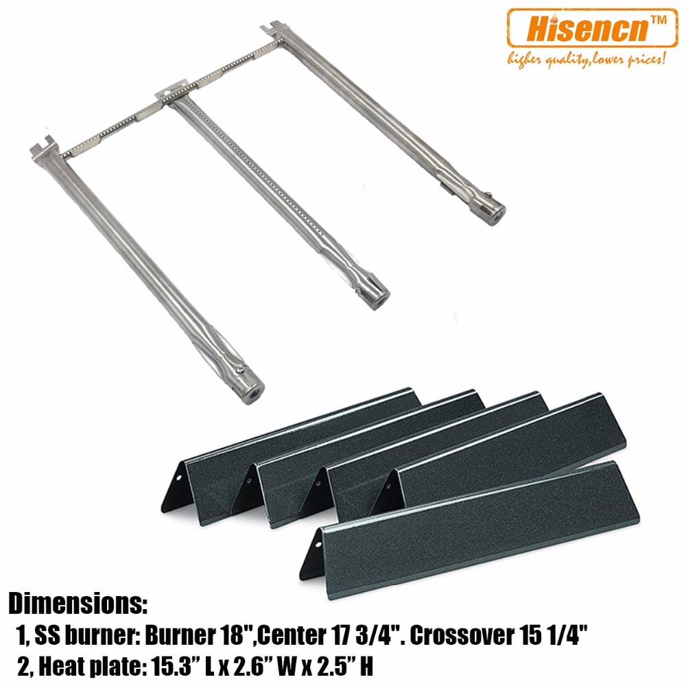 Hisencn Replacement Kit Heat Plates and Burner for Weber Spirit 300 Series Model Years 2013 and