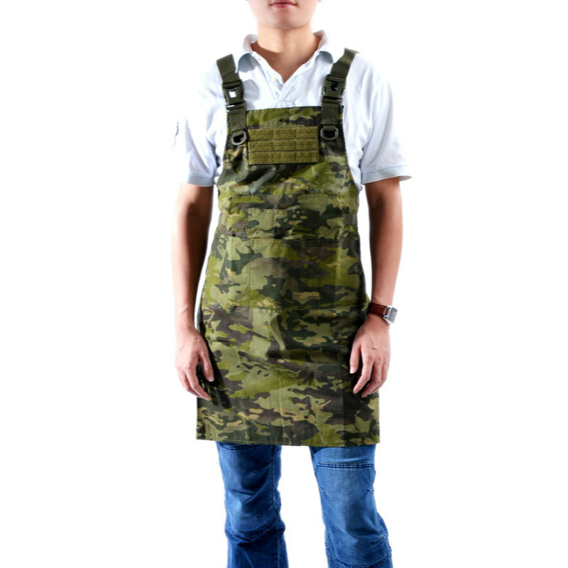 Military Unisex Tactical Apron Camouflage Sleeveless Hunting Chef Cooking Out Equipment Minecraft Grilling Barbeque Geek spanker 1000d camouflage tactical molle tank mechanic chef cooking grilling apron army training hunting waterproof nylon vest