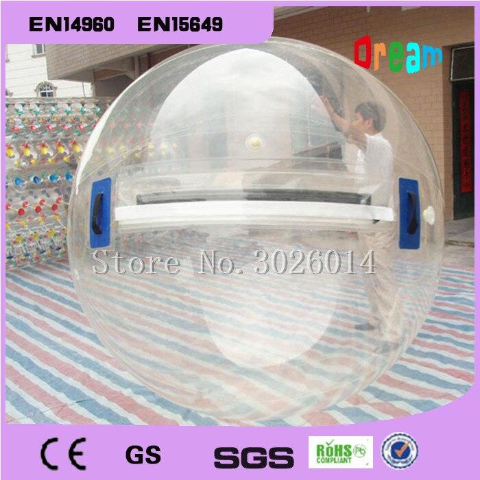 Livraison gratuite eau marche balle piscine 0.8mm PVC gonflable balle multi-fonction boule d'eau danse balle 2 m Transparent ballon d'eau