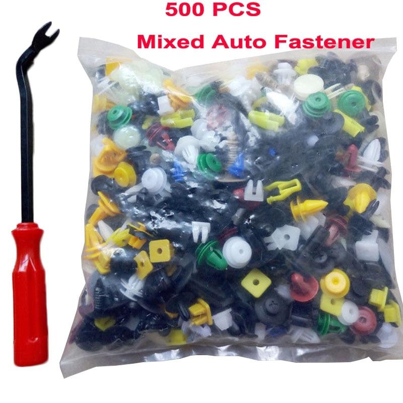 500PCS Car Door Panel Trim Fenders Bumper Rivet Retainer Push Pin Clips Mixed
