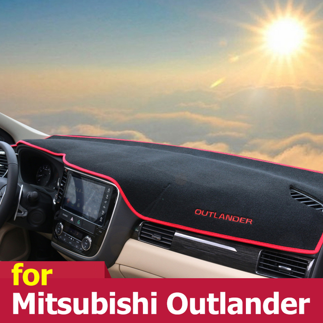 Car dashboard Avoid light pad Instrument platform desk cover Mats Carpets For Mitsubishi Outlander 2013 2014 2015 2016 2017 2018
