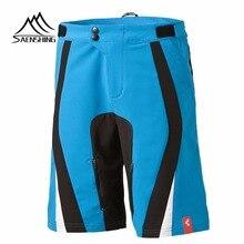Saenshing Cuissard Hommes Cube Shorts Vélos Vtt Réglable Taille Descente Vtt Montagne Vélo Pantalon Court Sport Marque Bermudes