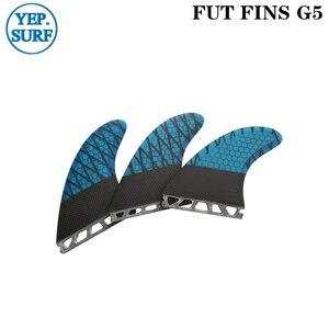 Image 5 - Toekomst G5 Fin Geel Honingraat Surfplank Vinnen Toekomst Glasvezel Vinnen Surf Quilhas Paddle Board