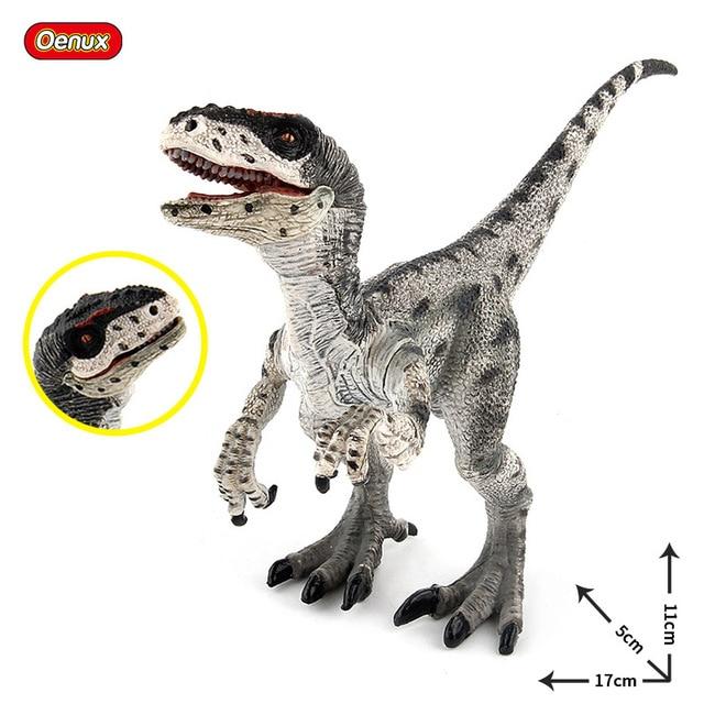 Oenux Novo Raptor T-REX Velociraptor Jurassic Modelo Figuras de Ação Dinossauro Mundo Boca Pode Abrir Dinossauro Brinquedo Brinquedo do Miúdo