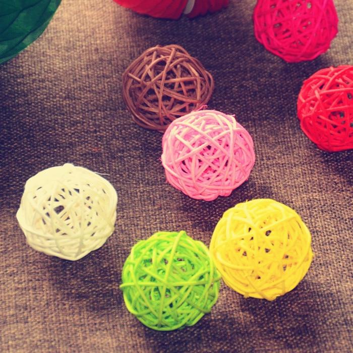 hot 50pcs/lot 5cm birthday party Event decor Wedding decoration Rattan Ball,DIY string lights ...