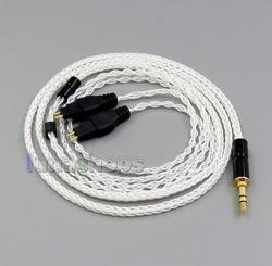 LN006194 3.5mm 2.5mm 4.4mm 8 Cores Balanced Pure Silver Plate Earphone Cable For Sennheiser hdxxx HD580 HD600 HD650 HD430 HD660S
