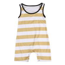 Baby Girl Outfits Sleeveless Striped Cotton Jumpsuit Infant Clothes Newborn Kids Baby Boy Girls Clothing Romper
