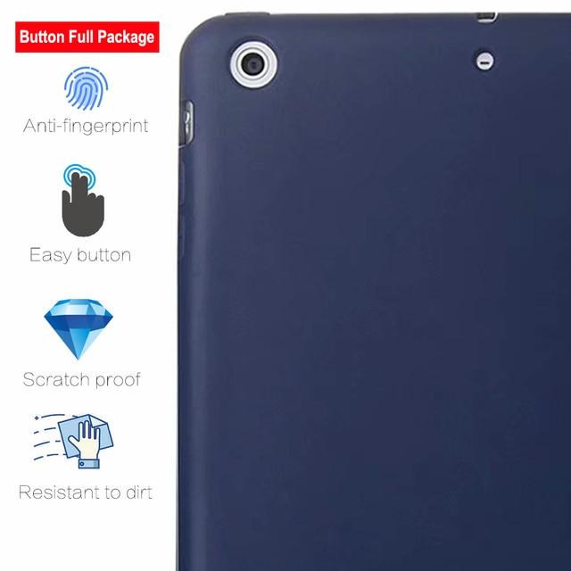 Capa para ipad mini 3 2 1 caso de couro do plutônio silicone macio capa traseira com trifold suporte auto sono inteligente capa para ipad mini2 funda 1