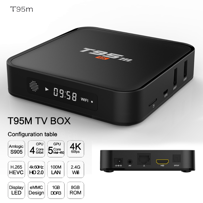 IPTV TV Box 4gb Ram With Bluetooth Android  Amlogic S905X 64 Bit Octa Core 2GB  8GB 2,4g Wifi BT4.0 LAN1000M 4 K Set-top Boxes