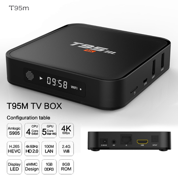 IPTV TV Box 4gb Ram with bluetooth Android Amlogic S905X 64 bit Octa core 2GB 8GB 2,4g wifi BT4.0 LAN1000M 4 K Set-top Boxes image