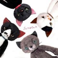 2016 Japan hot 4 colors available tamino maita scratch plush cat toy angry cat doll&stuffed kids gift 45cm
