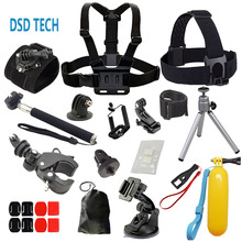 DSD TECH for gopro hero 4 accessories bike mount 360 degree hand strap for go pro6 5 4 3 2 1sjcam sj4000 xiaomiyi 2k eken h9 A6D