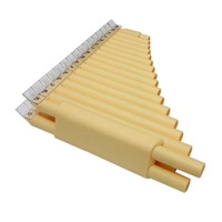 Moonembassy 32 Pipes Pan Flute Double 16 Pipes Panflute C Key Beginner School Teach Music Instrument