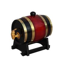 1.5L 3L Oak Barrel Beer Brewing Keg Wine For Whiskey Rum Port Decorative Hotel Restaurant Display