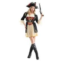 Классический пират ролевые игры Женский костюм на Хеллоуин представление