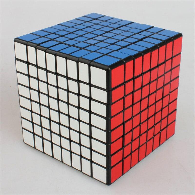 ShengShou 8x8x8 Magique Puzzle Cubo Magico 8x8 Vitesse Cube Noir Twist 8 Couches Magique puzzle Professionnel cadeau Éducatif jouets