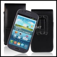 Black Waist Bag Wallet Leather Case For Galaxy S2 I9100 I8730 For Samsung Galaxy S3 I9300