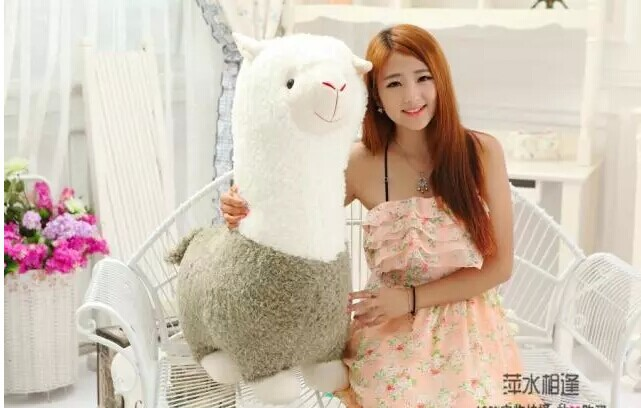 Grande belle peluche mouton jouet créatif dieu bête poupée nouveau grand alpaga vert jouet cadeau environ 70 cm