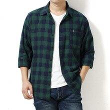 Men shirts plus size 6XL 7XL 8XL long sleeve male Plaid
