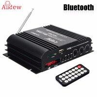 HI FI Audio Amplifier 4 Channel HiFi Stereo Wireless Bluetooth Amplifier Audio MP3 Player Remote Control