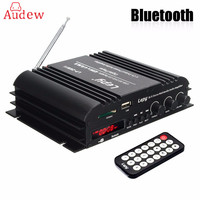 HI FI Audio Amplifier 4 Channel HiFi Stereo Wireless Bluetooth Amplifier Audio MP3 Player Remote Control