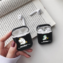 Cute Cartoon Unicorn Hard Earphone Case For Apple Airpods Protective Cover DIY Customized Clear Cases