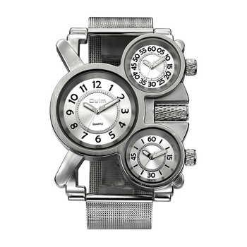 Comprar ahora Relojes para hombre de malla Oulm de marca superior de lujo  de múltiples zonas 58fca1274df6