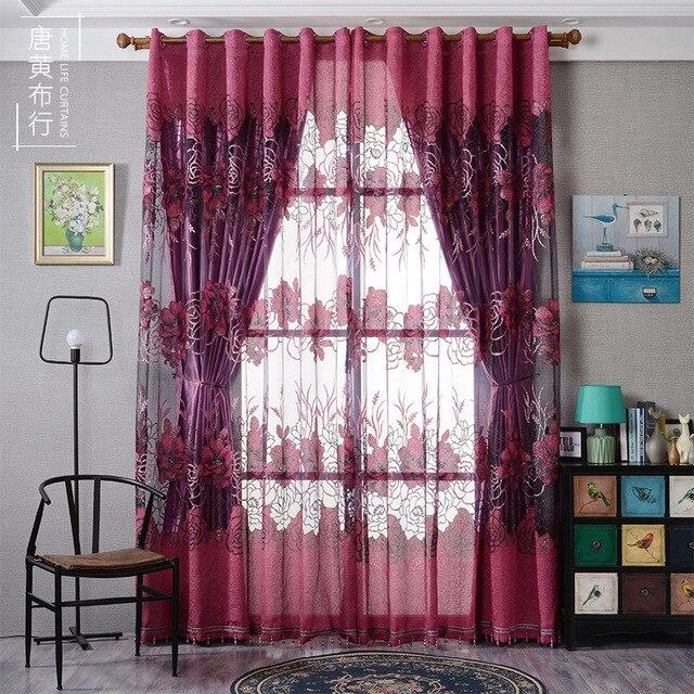 Moderne vorhang rot lila vorhang schmuck lleTu Wohnzimmer Küche 3d ...