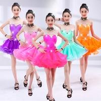 Children's Performance Dress Girls Practice Dance Dress Kids Standard Ballroom Dance Dresses Salsa Rumba Cha Cha Latin Dance